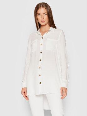 Vero Moda Vero Moda Koszula Bumpy 10255547 Biały Oversize