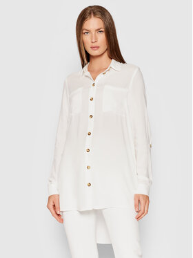 Vero Moda Vero Moda Marškiniai Bumpy 10255547 Balta Oversize