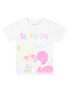 Primigi Primigi T-Shirt Selfie Time 45221601 Biały Regular Fit
