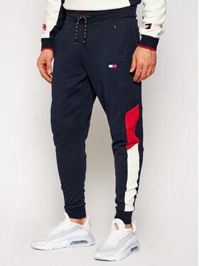 Tommy Sport Tommy Sport Pantaloni da tuta Cuffed Blocked S20S200549 Blu scuro Regular Fit