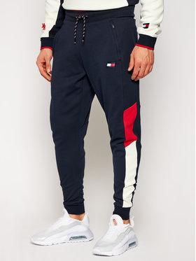 Tommy Sport Tommy Sport Teplákové kalhoty Cuffed Blocked S20S200549 Tmavomodrá Regular Fit
