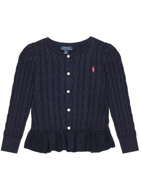 Polo Ralph Lauren Polo Ralph Lauren Sweter Peplum Cardi 313737911005 Granatowy Regular Fit