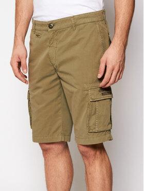 Aeronautica Militare Aeronautica Militare Pantaloncini di tessuto 211BE066CT1122 Verde Regular Fit