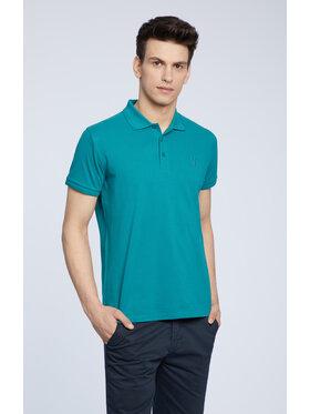 Vistula Vistula Тениска с яка и копчета Mike XA1281 Зелен Regular Fit