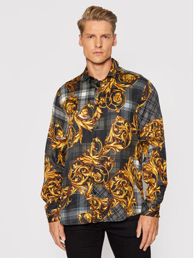 Versace Jeans Couture Versace Jeans Couture Риза Highland 71GAL2R6 Черен Regular Fit