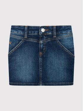 Calvin Klein Jeans Calvin Klein Jeans Sukňa Pencil IG0IG01035 Tmavomodrá Regular Fit