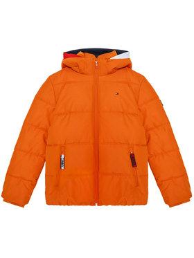TOMMY HILFIGER TOMMY HILFIGER Pūkinė striukė Essential Padded KB0KB05982 D Oranžinė Regular Fit