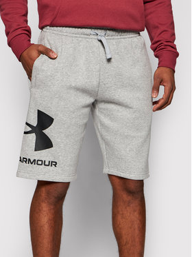 Under Armour Under Armour Szorty sportowe Rival Fleece Big Logo 1357118 Szary Loose Fit
