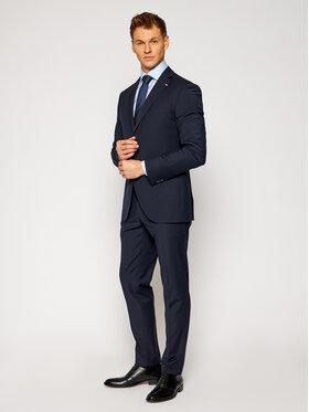 Tommy Hilfiger Tailored Tommy Hilfiger Tailored Garnitur Flex Solid Slim Fit TT0TT08606 Granatowy Slim Fit