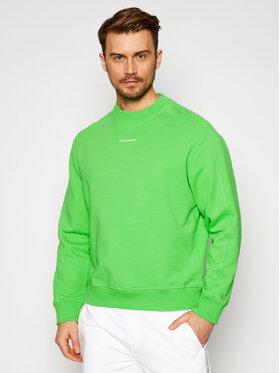 Calvin Klein Jeans Calvin Klein Jeans Mikina J30J318507 Zelená Regular Fit