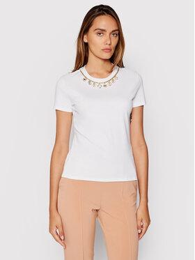 Elisabetta Franchi Elisabetta Franchi T-shirt MA-203-16E2-V175 Bijela Regular Fit