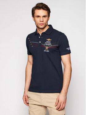 Aeronautica Militare Aeronautica Militare Polo marškinėliai 211PO1531P191 Tamsiai mėlyna Slim Fit