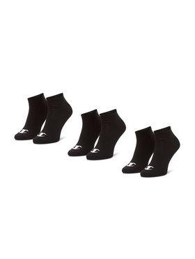 Champion Champion Sada 3 párů nízkých ponožek unisex CH0008QI-8VA Černá