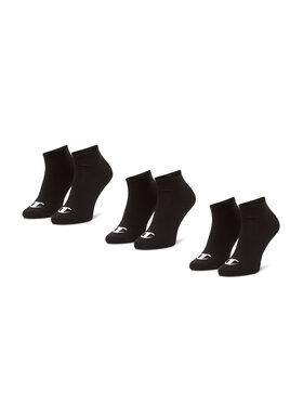Champion Champion Σετ 3 ζευγάρια κοντές κάλτσες unisex CH0008QI-8VA Μαύρο