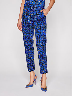 Weekend Max Mara Weekend Max Mara Pantaloni din material Golden 51311311 Bleumarin Slim Fit