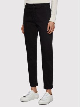Boss Boss Kalhoty z materiálu C_Tachini-D 50441881 Černá Regular Fit