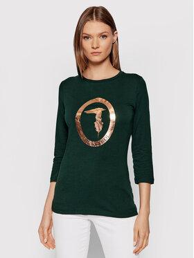 Trussardi Trussardi Bluză 56T00422 Verde Slim Fit