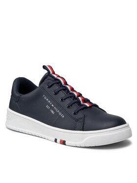 Tommy Hilfiger Tommy Hilfiger Sneakersy Low Cut Lace Up Sneaker T3B4-32052-0193 S Granatowy