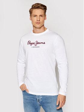 Pepe Jeans Pepe Jeans Longsleeve Eggo Long PM501321 Biały Regular Fit