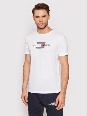 Tommy Hilfiger Tommy Hilfiger T-Shirt Lines MW0MW20164 Weiß Regular Fit