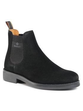 Gant Gant Členková obuv s elastickým prvkom Brookly 21653010 Čierna