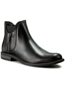 Gino Rossi Gino Rossi Kotníková obuv s elastickým prvkem Aldo MBV257-S53-E100-9900-F Černá