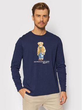 Polo Ralph Lauren Polo Ralph Lauren Marškinėliai ilgomis rankovėmis Lsl 710828276001 Tamsiai mėlyna Slim Fit