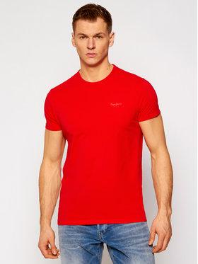 Pepe Jeans Pepe Jeans T-Shirt Original Basic PM503835 Červená Slim Fit