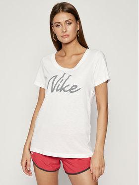 NIKE NIKE Maglietta tecnica Dry-FIT Scoop Logo Tee CQ0258 Bianco Regular Fit