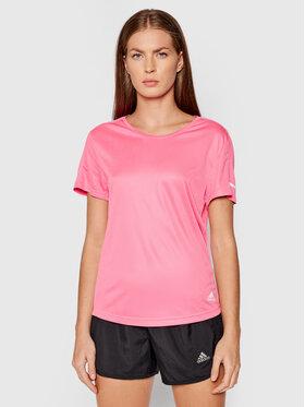 adidas adidas Тениска от техническо трико Run It H31030 Розов Standard Fit