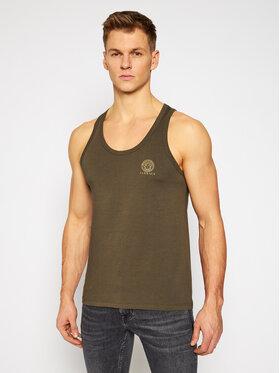 Versace Versace Tank top marškinėliai Medusa AUU01012 Žalia Regular Fit