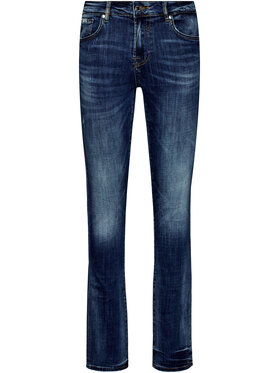 Guess Guess Džinsai skinny fit Angels M01AN2 D3YL1 Tamsiai mėlyna Skinny Fit
