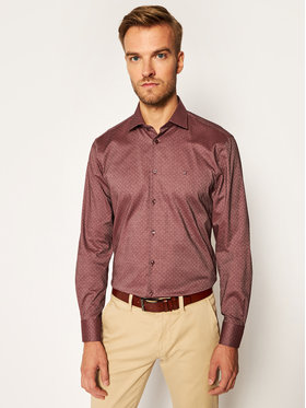 Tommy Hilfiger Tailored Tommy Hilfiger Tailored Camicia Mercerized Dobby TT0TT08199 Bordeaux Slim Fit