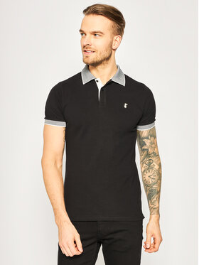 Save The Duck Save The Duck Polo DR058M PICOX Czarny Regular Fit