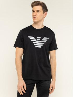 Emporio Armani Emporio Armani T-Shirt 3H1TD0 1J30Z 0999 Czarny Regular Fit