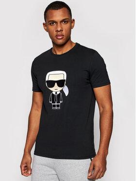 KARL LAGERFELD KARL LAGERFELD T-shirt Crewneck 755060 511250 Crna Regular Fit