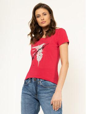 Trussardi Jeans Trussardi Jeans Póló 56T00256 Rózsaszín Slim Fit