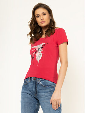 Trussardi Jeans Trussardi Jeans T-Shirt 56T00256 Różowy Slim Fit