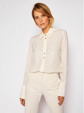 Victoria Victoria Beckham Victoria Victoria Beckham Koszula Silk Blend Logo 2320WSH001389C Beżowy Regular Fit