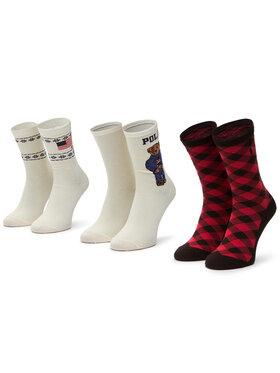 Polo Ralph Lauren Polo Ralph Lauren Moteriškų ilgų kojinių komplektas (3 poros) 455828219001 R. Os Smėlio
