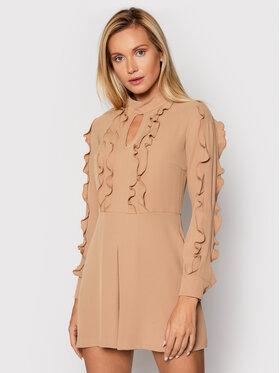Babylon Babylon Sukienka koktajlowa O_MF0509 Brązowy Regular Fit