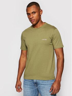 Calvin Klein Calvin Klein T-Shirt Chest Logo K10K103307 Zelená Regular Fit