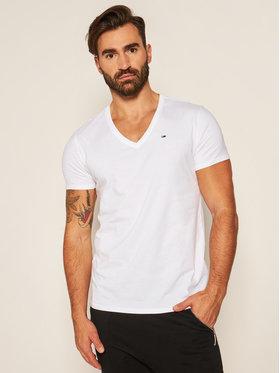 Tommy Jeans Tommy Jeans T-Shirt DM0DM04410 Bílá Regular Fit