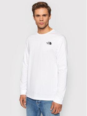 The North Face The North Face Тениска с дълъг ръкав Simple Dome NF0A3L3BFN41 Бял Regular Fit