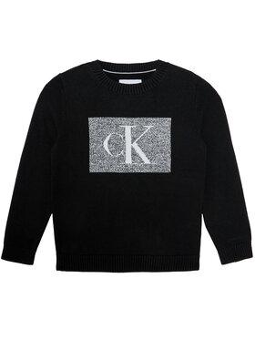Calvin Klein Jeans Calvin Klein Jeans Pullover Oco Monogram Box IB0IB00623 Schwarz Regular Fit