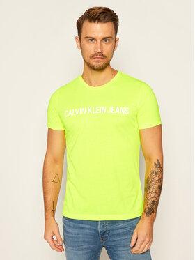 Calvin Klein Jeans Calvin Klein Jeans Тишърт Institutional J30J307856 Жълт Slim Fit