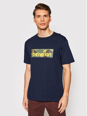 United Colors Of Benetton United Colors Of Benetton T-Shirt 3096J17H6 Tmavomodrá Regular Fit