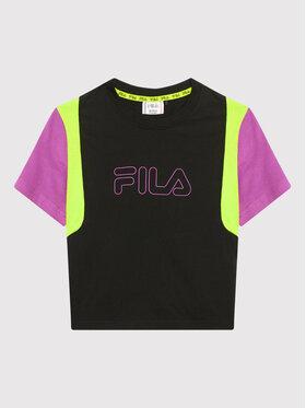 Fila Fila T-Shirt Samara Blocked 683419 Czarny Regular Fit