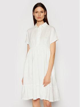 Max Mara Leisure Max Mara Leisure Sukienka koszulowa Dolmen 32210716 Biały Regular Fit