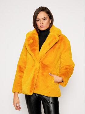 Desigual Desigual Кожено палто Seren 20WWEWD3 Жълт Oversize